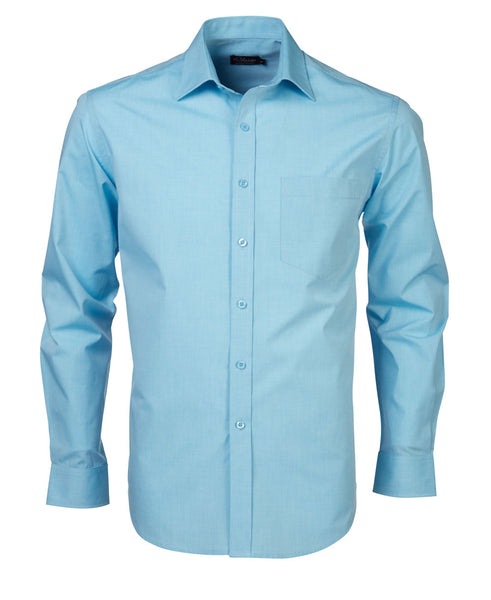SALE Rolando - K215 Mens Minimal Check L/S Shirt