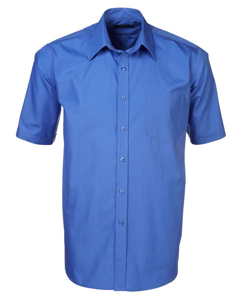 Rolando - P070 Mens Easy Care Poplin S/S Lounge Shirt