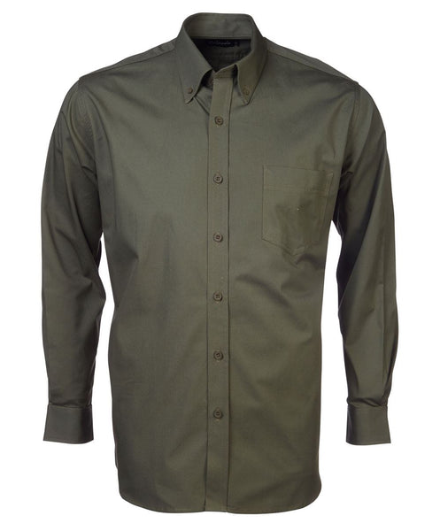 Mens brushed cotton long sleeve lounge shirt