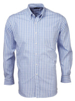 Mens check long sleeve lounge shirt