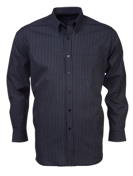 Renzo - S09 Mens Check L/S Lounge Shirt