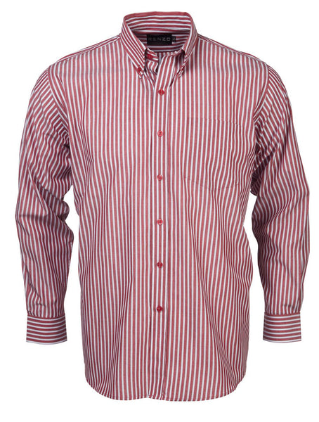Renzo - S10 Mens Stripe L/S Lounge Shirt
