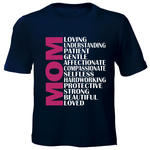 Printed T-Shirt - Mom Adjectives