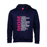Printed Hoodie - Mom Adjectives