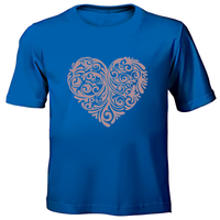 Rose Gold Heart Hand Printed T-Shirts