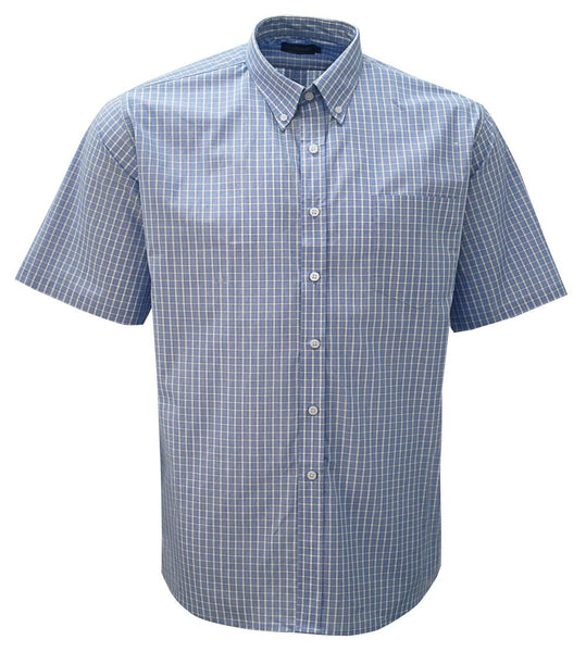 Mens Check short sleeve lounge shirt