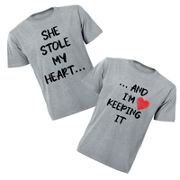 Couples T-Shirts - She Stole...I'm Keeping