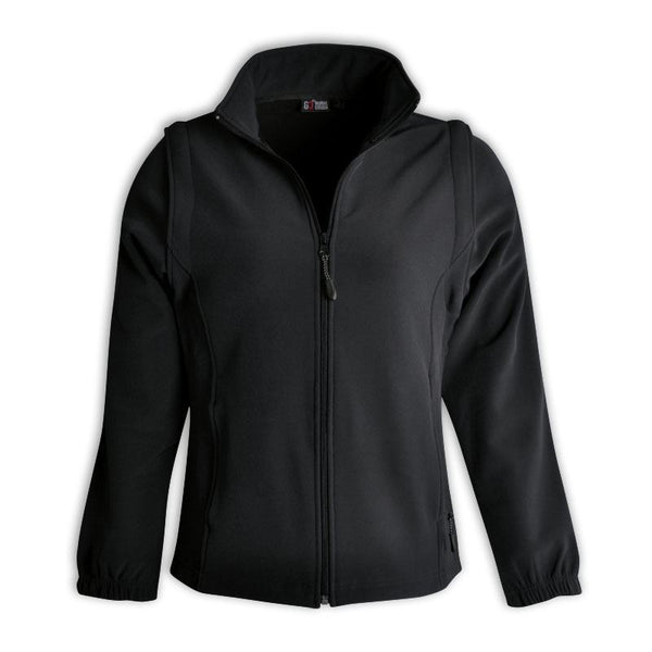 GLOBAL CITIZEN - Ladies Zip Off Sleeve Softshell Jacket