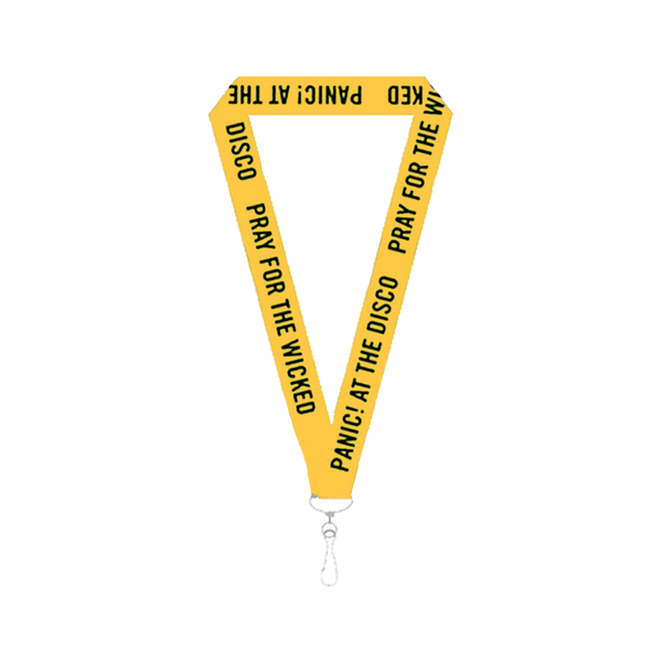 Yellow Pray for the Wicked Lanyard