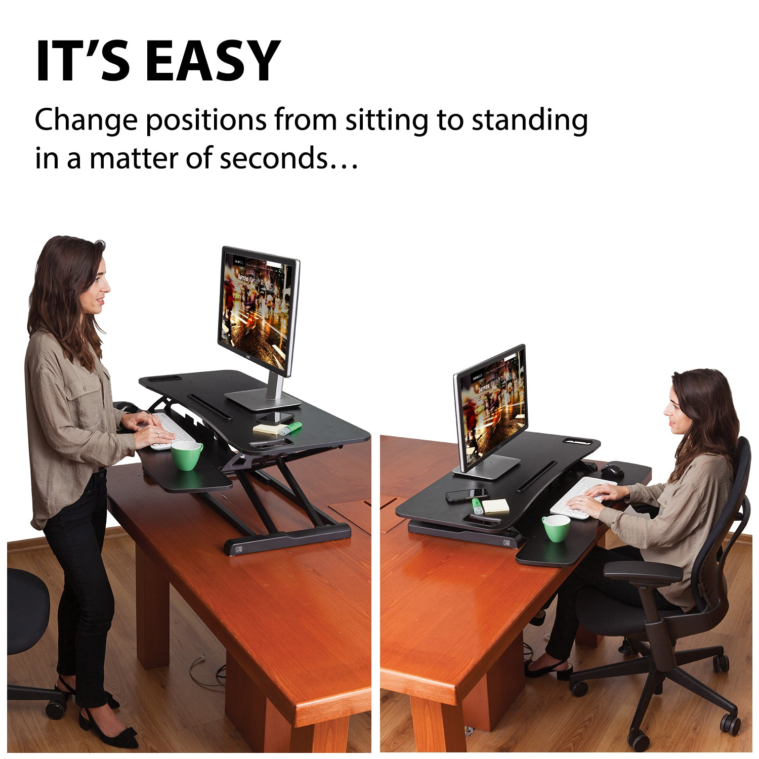 g pack pro x35 adjustable standing desk converter elite height adjustable sit stand lift office computer workspace with gas spring riser ergonomic - Height Adjustable Standing Desk