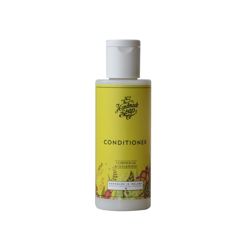 All Natural Handmade Chemical Free Lemongrass & Cedarwood Essential Oil Hair Conditioner Travel Size