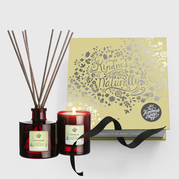 Candle & Diffuser Set - Lavender, Rosemary, Thyme & Mint