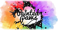 Painted Paws - Beautiful Rainbow Art Pet Portraits!