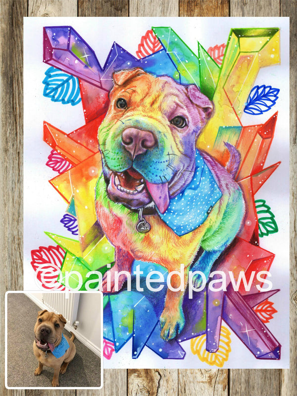 Rainbow Crystal Inspired Painted Paw-painted-paws