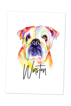 Named Colourful Pet Portrait-painted-paws