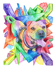 Load image into Gallery viewer, Rainbow Crystal Inspired Painted Paw