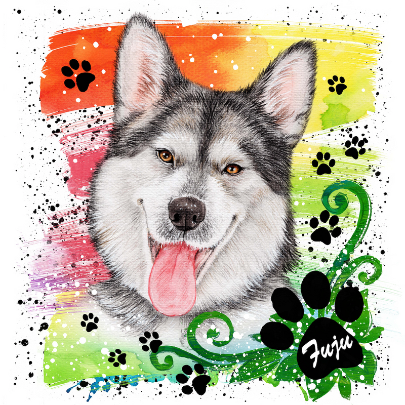 Pet portrait-painted-paws