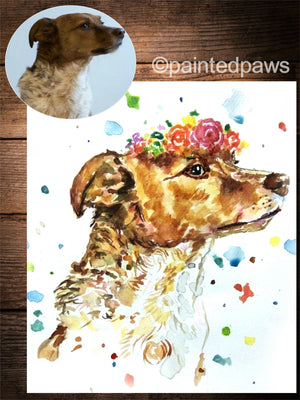 Vibrant Watercolour-painted-paws