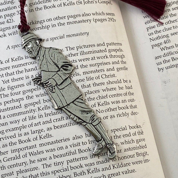 REPLICA OF GEORGE BERNARD SHAW AS A BOOK MARK WITH PURPLE TOSSEL.