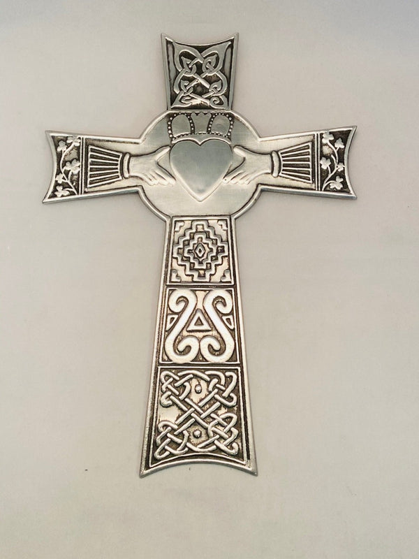 Celtic Claddagh wall Cross