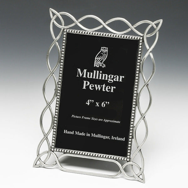 PEWTER FRAME SILVER METAL FINISH MADE IN IRELAND. ZINN ÉTAIN PELTRO