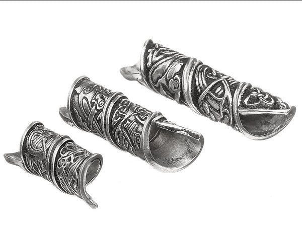 Set of 3 Hair/Beard Beads - Celtic Design PRICE INCLUDES SHIPPING