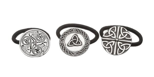 CELTIC DESIGN BOBBLES 30MM IN DIAMITER. PEWTER METAL IN SILVER FINISH. IRELAND ZINN ÉTAIN PELTRO