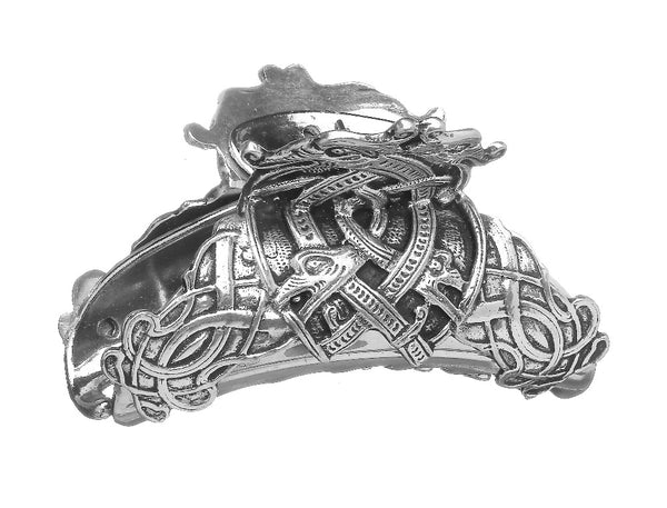 CELTIC HAIR CLASP MADE OF SILVERFINISHED PEWTER METAL. ÉTAIN PELTRO HARTZINN