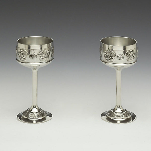 Pewter Hock Goblet Set. SHIPPING INCLUDED