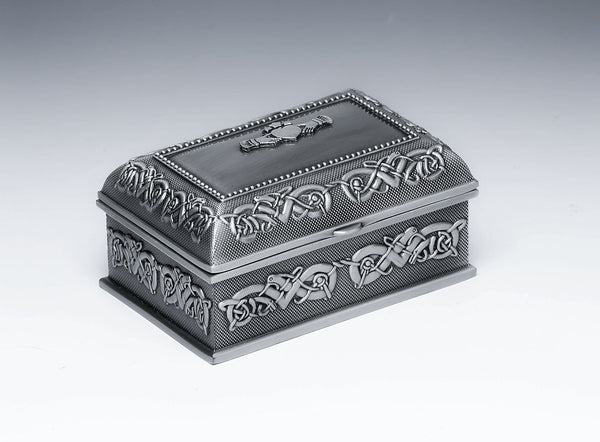 Ladies Jewellery Box with Claddagh, Mom and Plain. PRICE INCLUDES SHIPPING