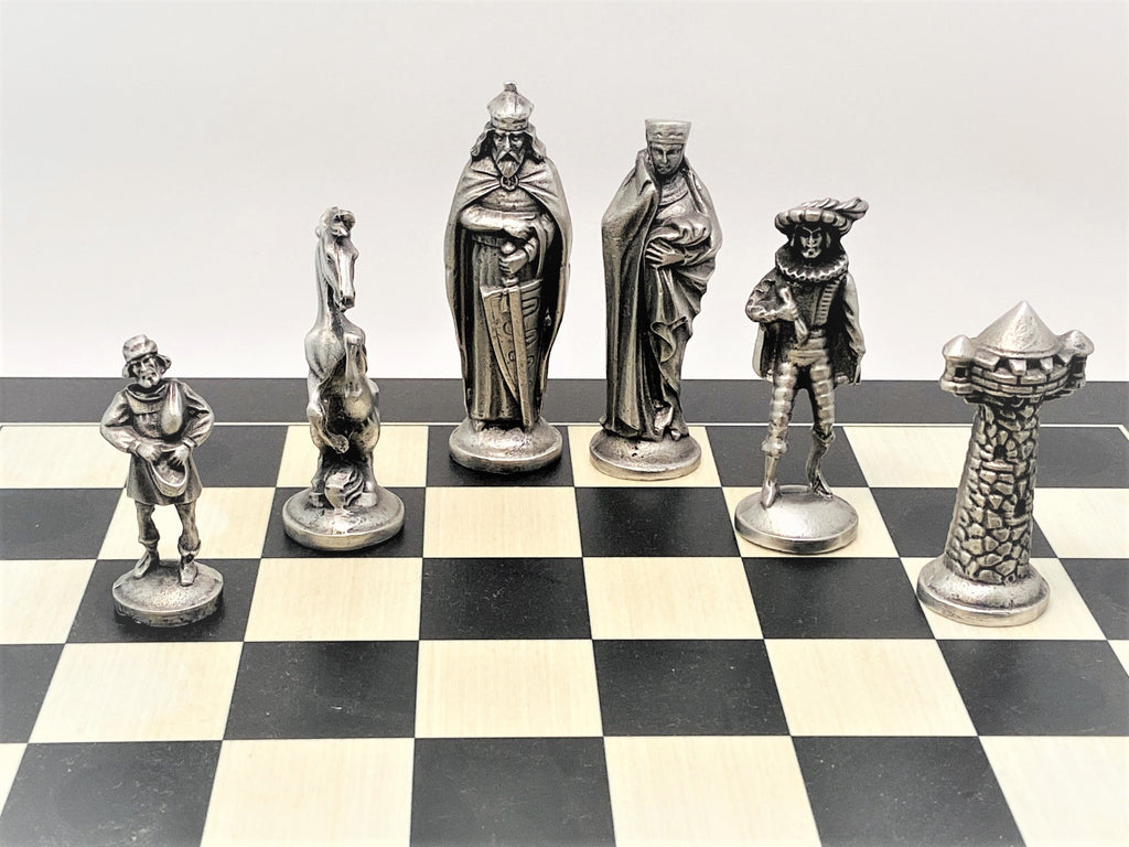 Medieval Chess Set With Board Price Includes Shipping Mullingar Pewter