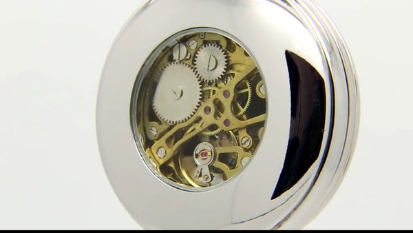 GENTS MECHANICAL POCKET WATCH GIFT, TIME ITS TIME, ZINN PELTRO