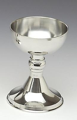 7 INCH HIGH CHALICE. PLAIN OR WITH CROSS ATTACHED.