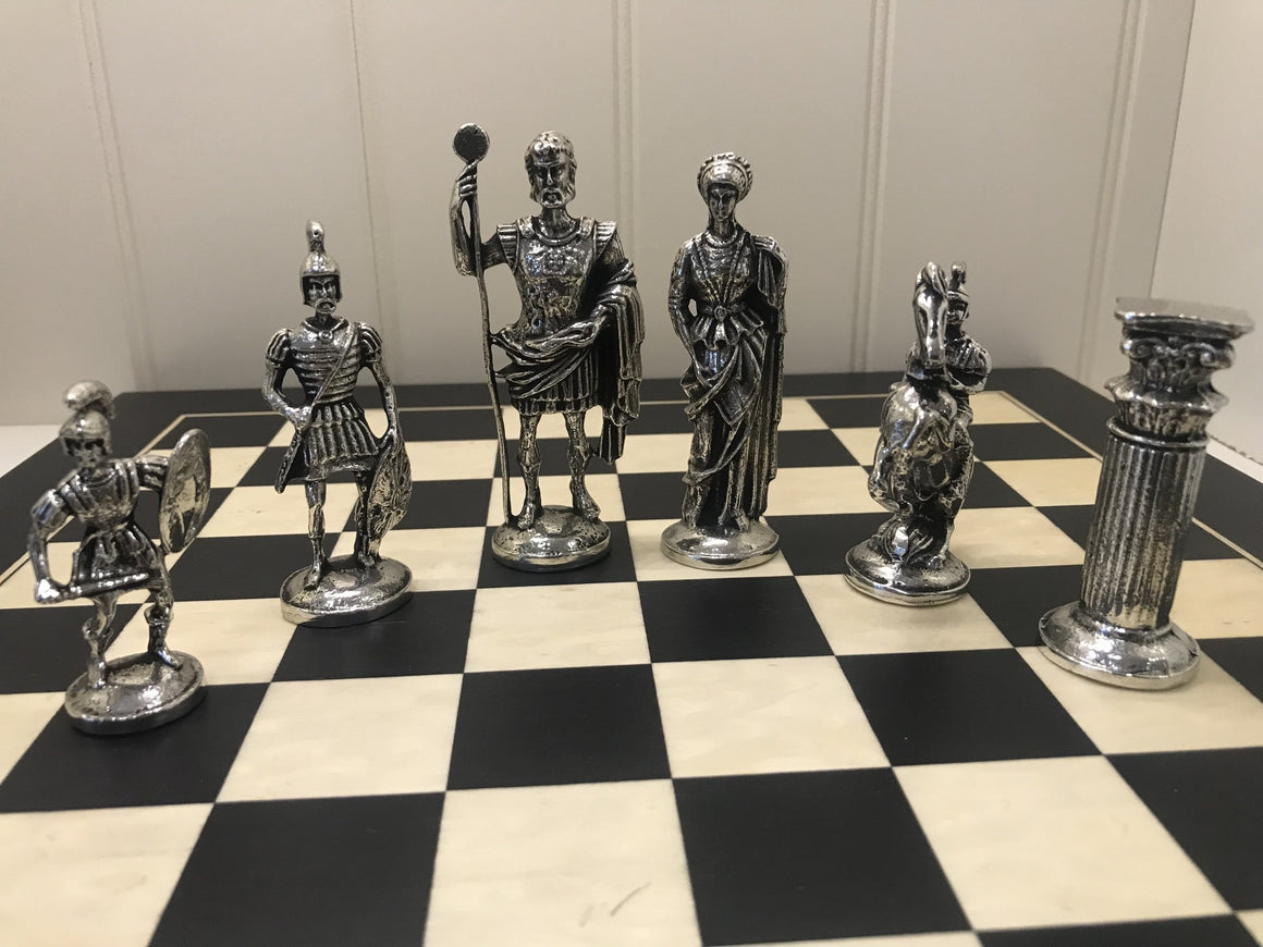 Roman Chess Set and Board