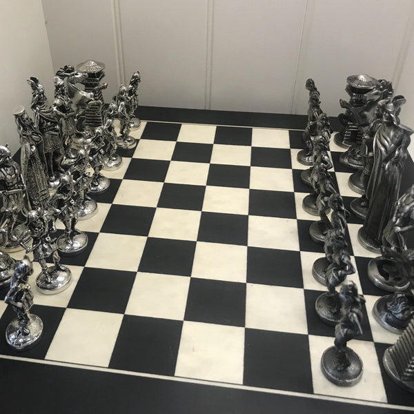Viking Chess Set with Board