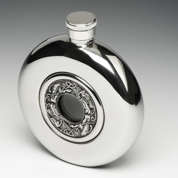 WHISKEY FLASK WITH KELLS DESIGN