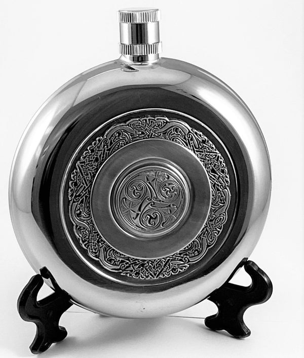 ROUND POCKET FLASK WITH CUP