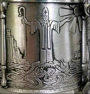 St. Patrick's Tankard. SHIPPING INCLUDED