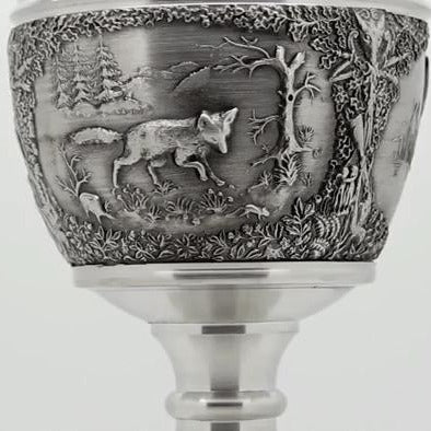 Mullingar Pewter Woodlands Wine Goblet