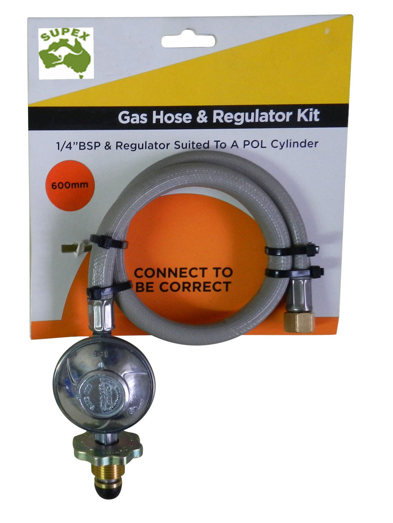 Gas Hose & Regulator Kit 2kg 600mm - All About Camping
