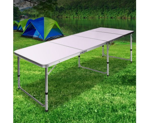 Portable Folding Camping Table 240cm - All About Camping
