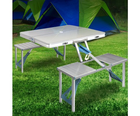 Portable Folding Camping Table and Chair Set 85cm - All About Camping