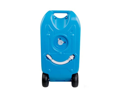 40L Portable Wheel Water Tank Blue - All About Camping