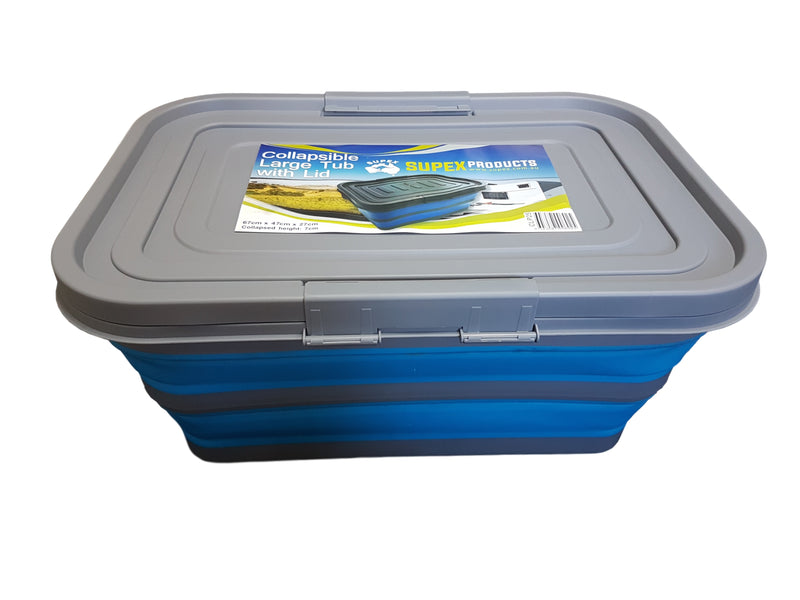 Collapsible Large Tub with Lid