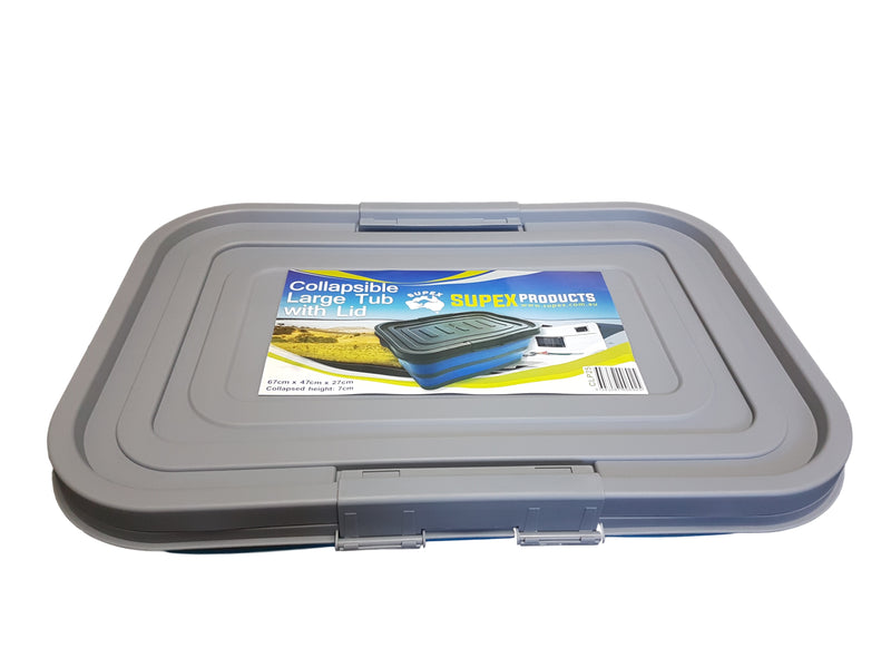 Collapsible Large Tub with Lid - All About Camping