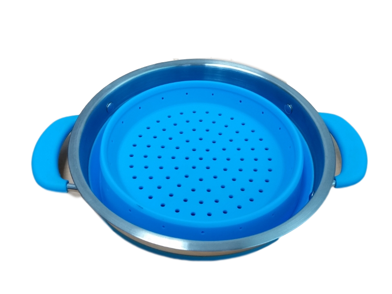 Collapsible Colander Blue - All About Camping
