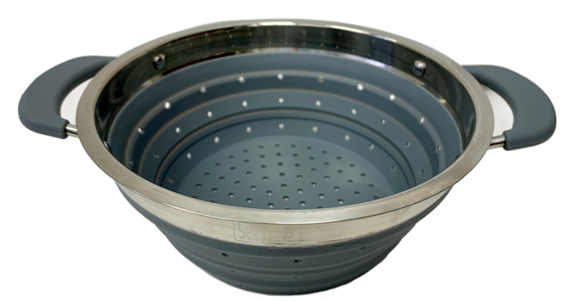 Collapsible Colander Grey - All About Camping