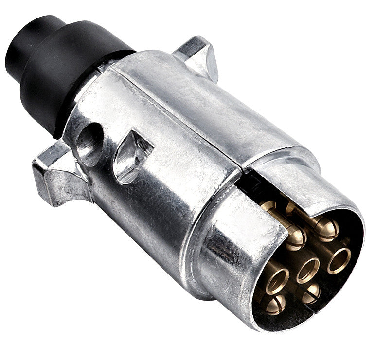 7 Pin Aluminium Roud Male Connector Plug - All About Camping