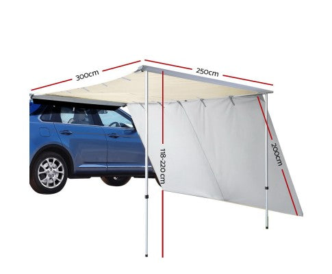 Car Shade Awning 2.5 X 3M W/ Extension 3 X 2M - All About Camping