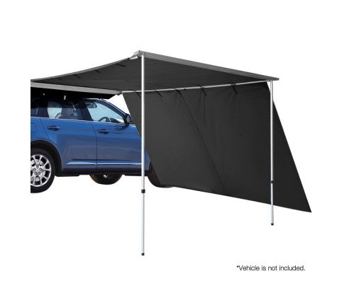 Car Shade Awning 2.5 X 3M W/ Extension 3 X 2M Charcoal Black